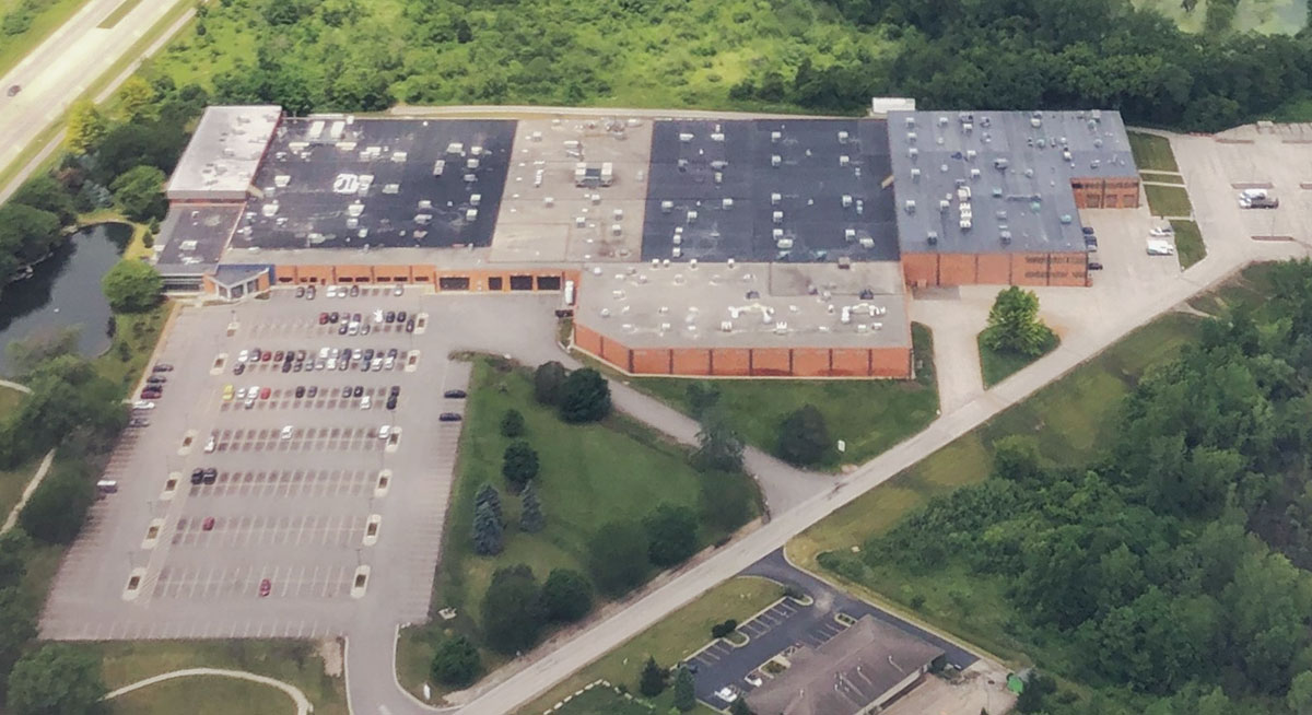 Aerial view of our plant